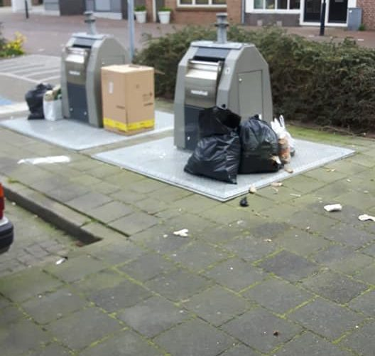 Overvolle Containers